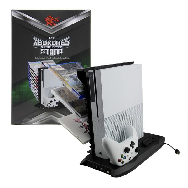 Вертикална стойка за Xbox One (S) с охладителна система
