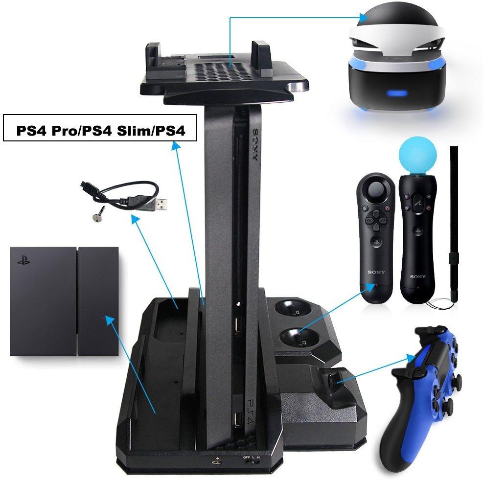 Вертикална стойка за PS4/PS4 Slim/PS4 Pro и VR очила