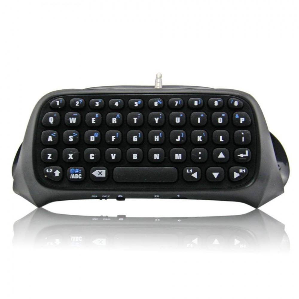 Безжична клавиатура за PS4 джойстик - черна