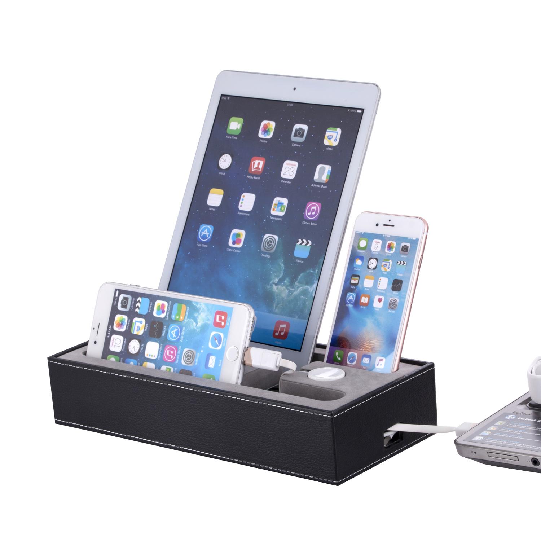 Стойка от изкуствена кожа за iPhone, iPad и Apple Watch