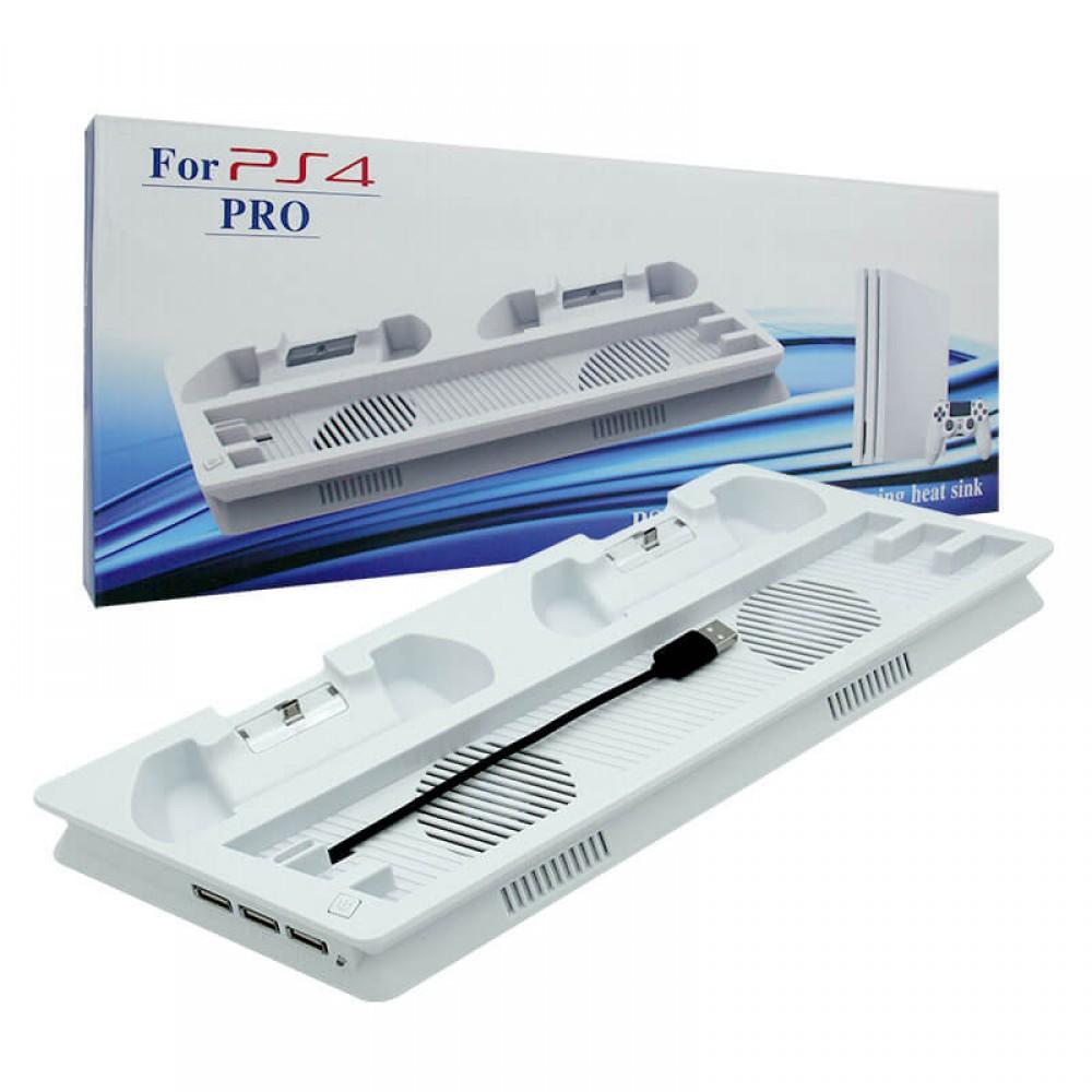 Вертикална стойка за PS4 Pro - бяла