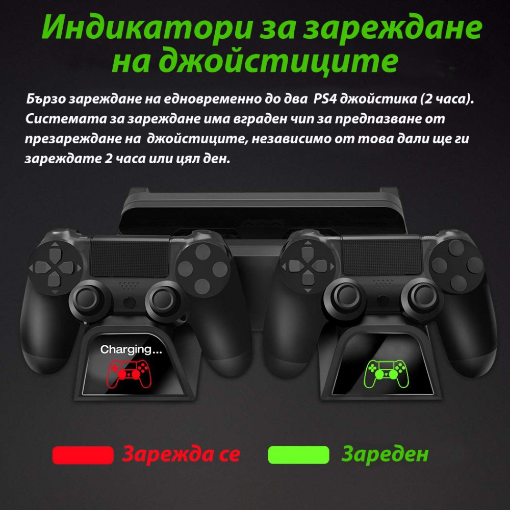 Вертикална стойка за PS4/PS4 Pro/PS4 Slim