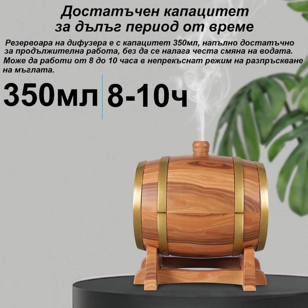 Ароматерапевтичен дифузер 350мл с вградена Bluetooth колонка