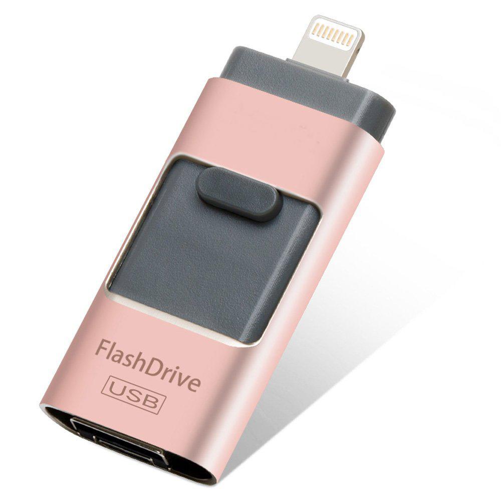 USB Флашка 3 в 1 - 8GB розова