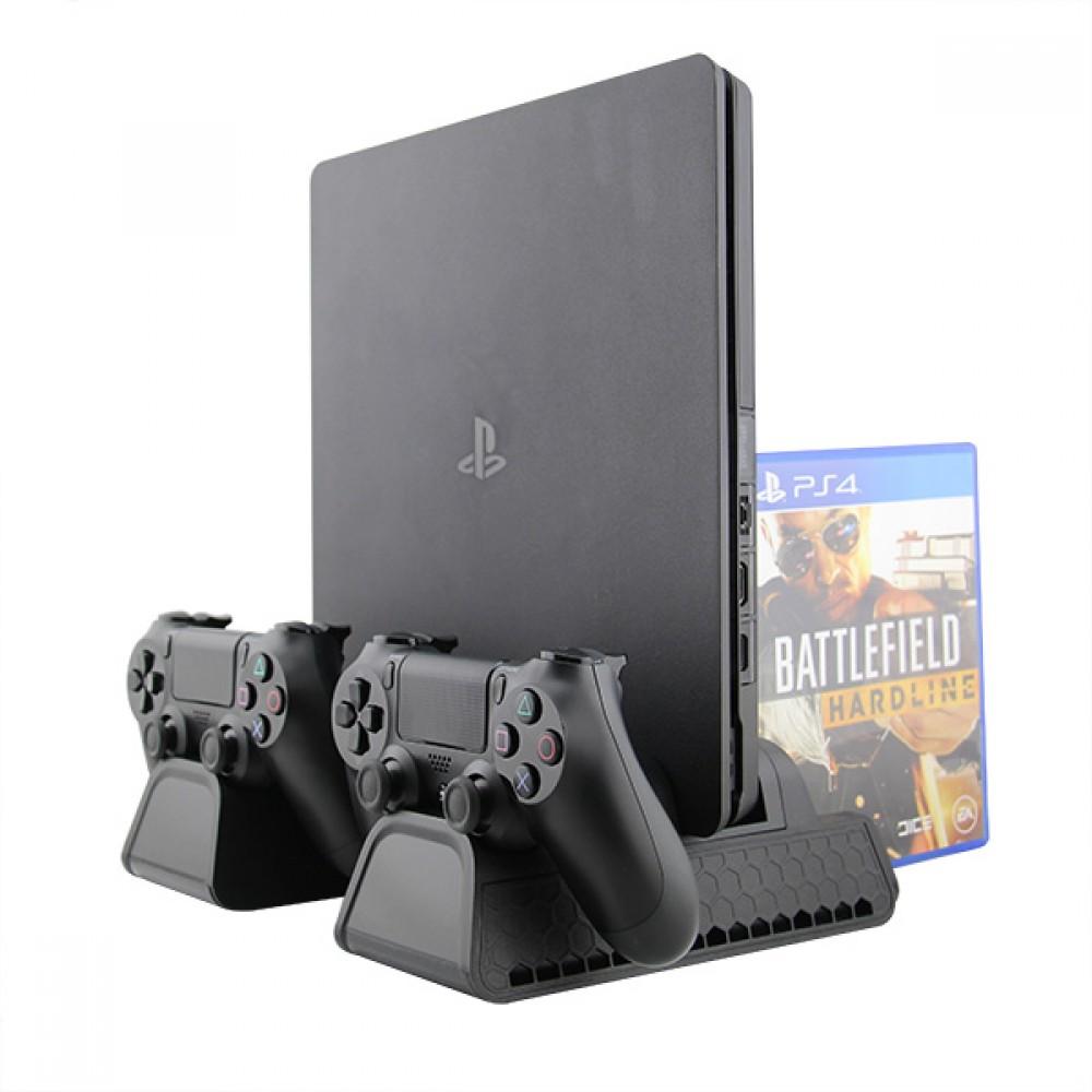 Вертикална стойка за PS4/PS4 Slim/PS4 Pro 4 в 1