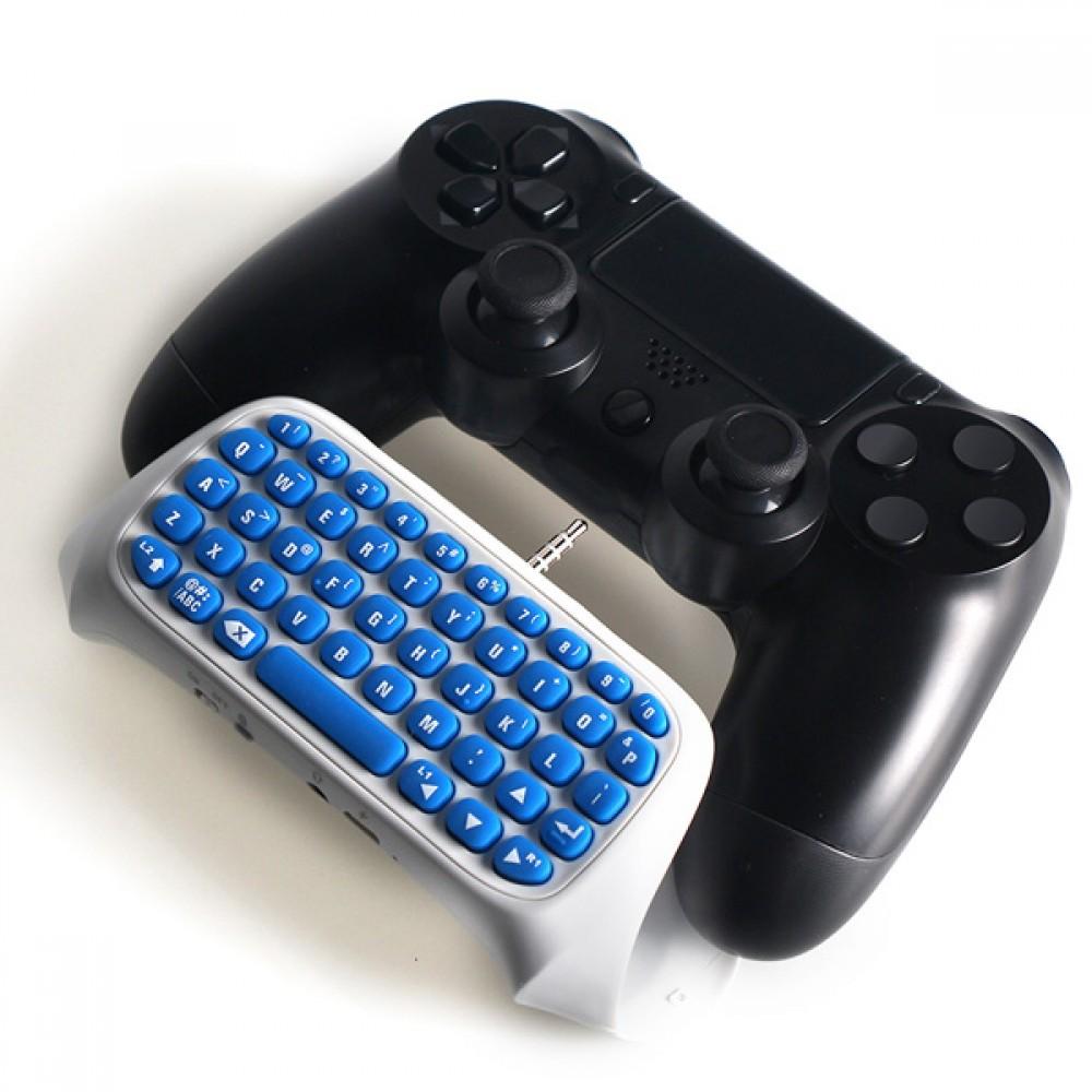 Безжична клавиатура за PS4 джойстик - бяла