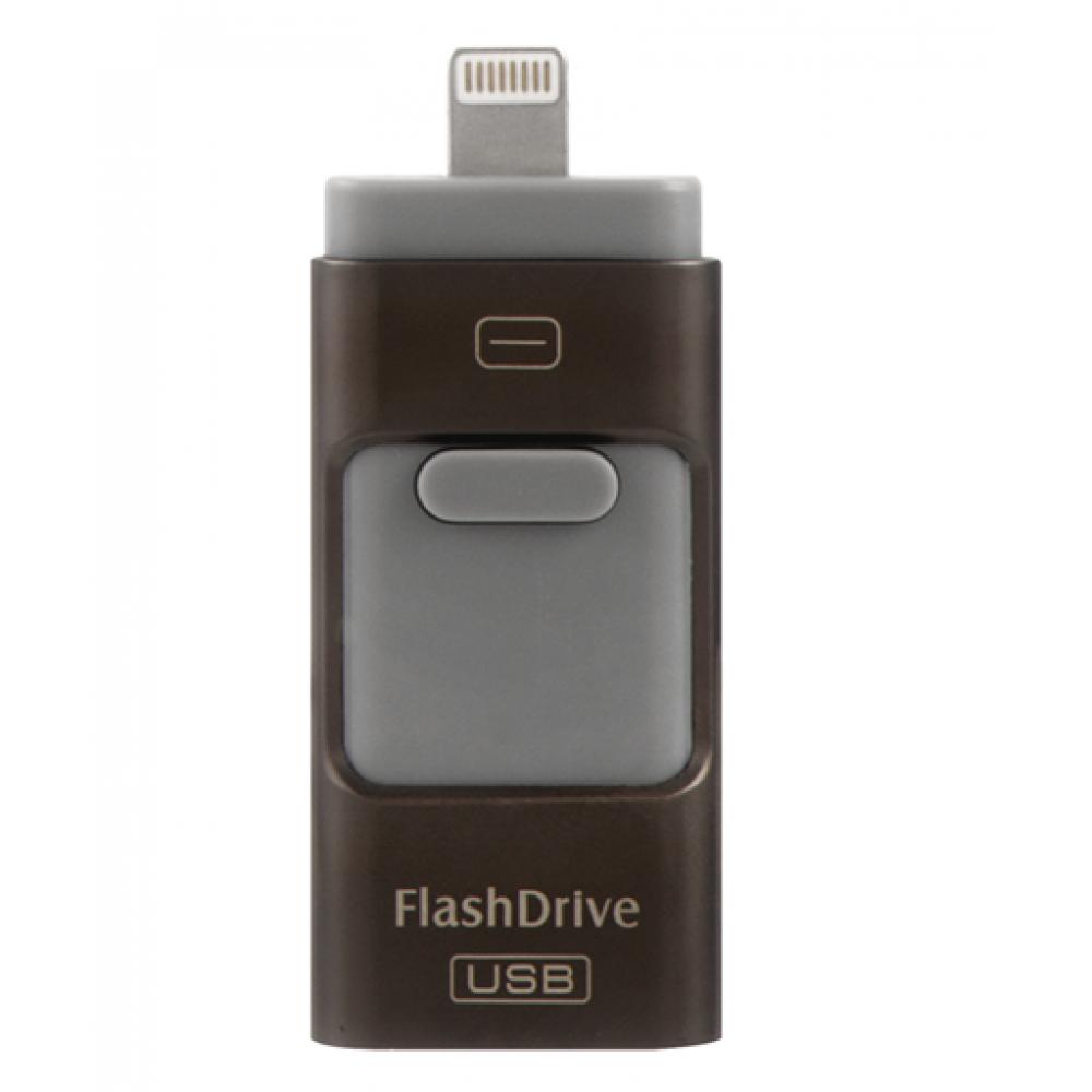 USB Флашка 3 в 1 - 16GB черна